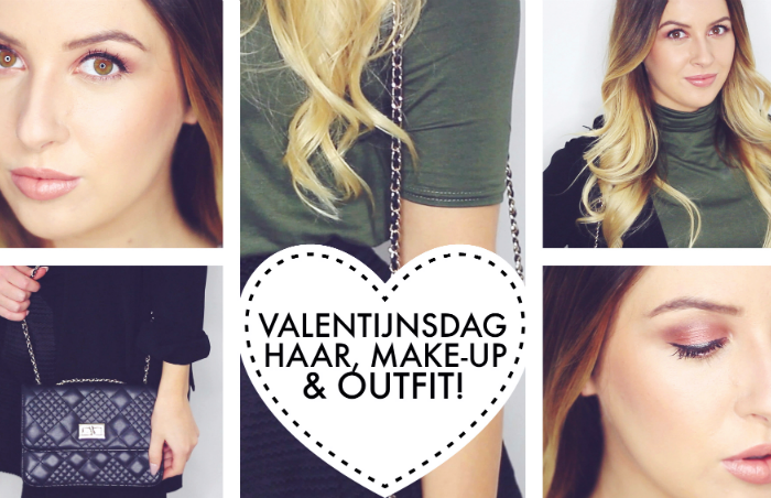 Valentijnsdag look | Make-up, haar & outfit!