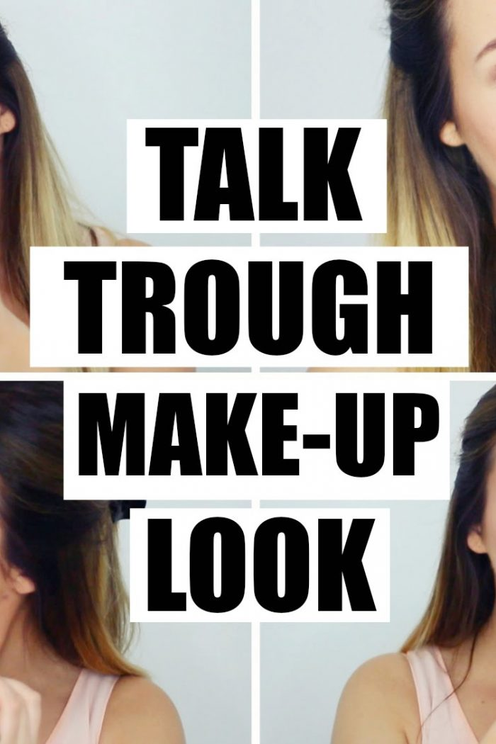 Talk through make-up look